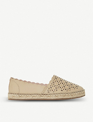 DUNE Gracelynn cutout leather espadrilles