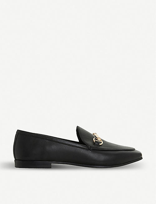 DUNE Guiltt snaffle trim leather loafers