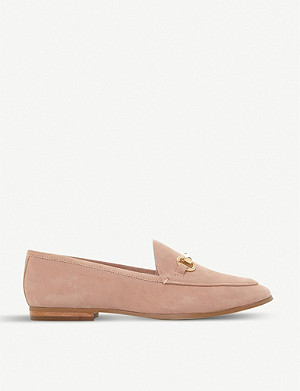 DUNE Guiltt snaffle trim suede loafers