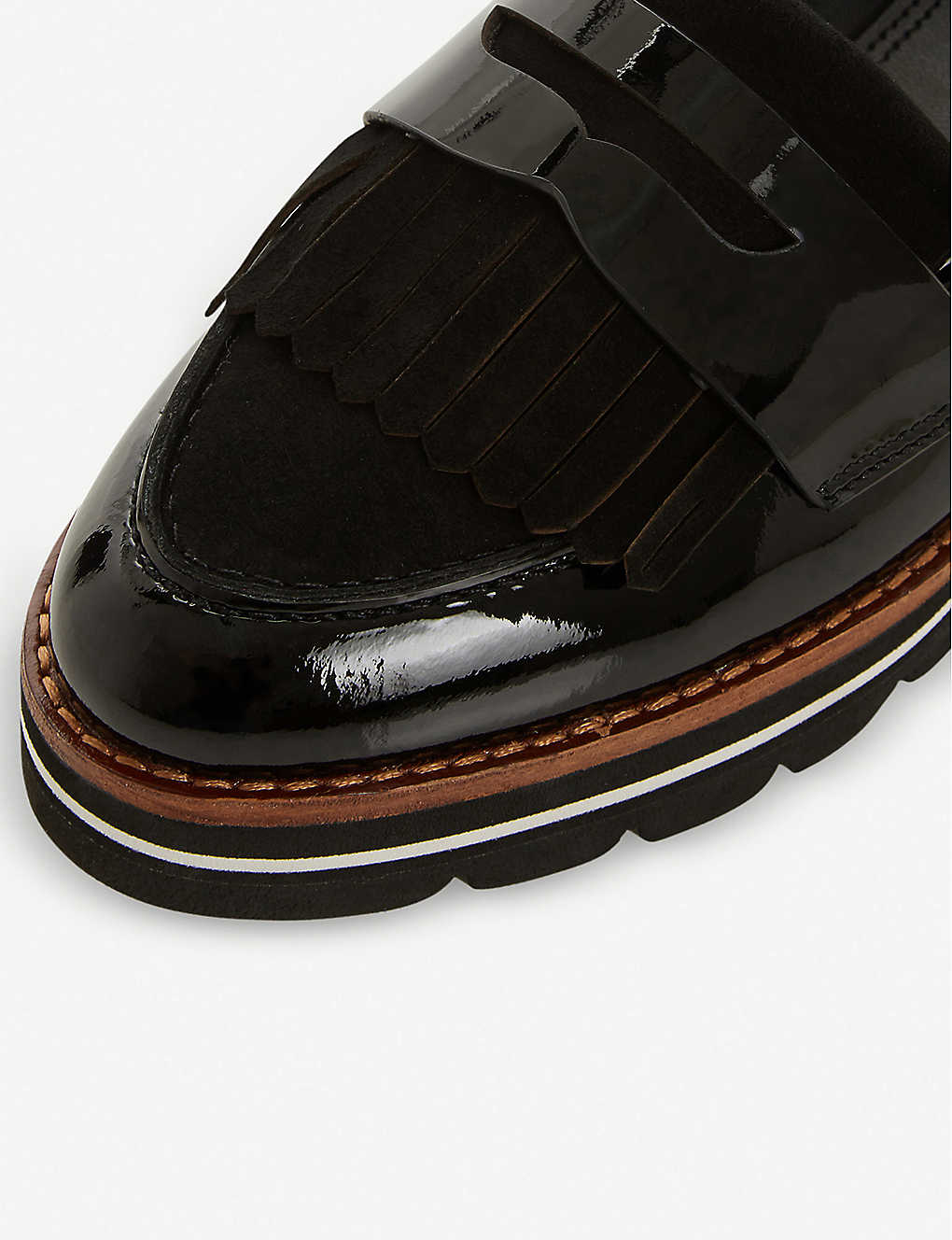 94655d49fba ... Gracella flatform leather loafers - Black ...