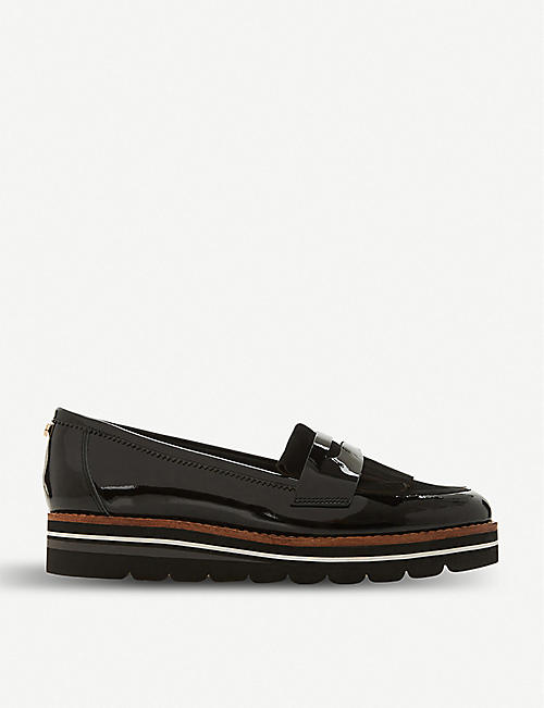 bdf30ea90bf DUNE Gracella flatform leather loafers