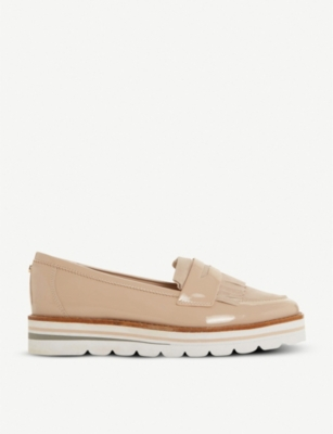 DUNE Gracella flatform leather loafer