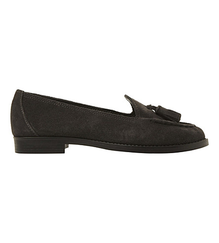 8912c9bc351 DUNE Galileo suede tassel loafers (Grey-suede