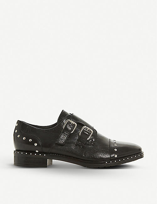 DUNE: Gryffin stud-detail leather brogues