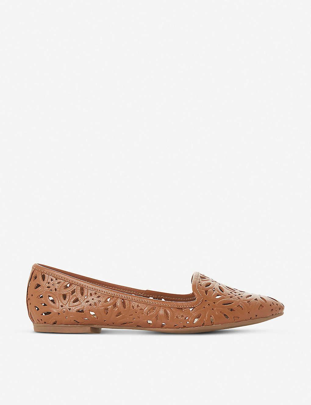 ff2afda902 DUNE - Galatia floral laser-cut leather loafers | Selfridges.com