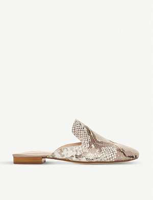 DUNE Gerii snakeskin-effect leather mules