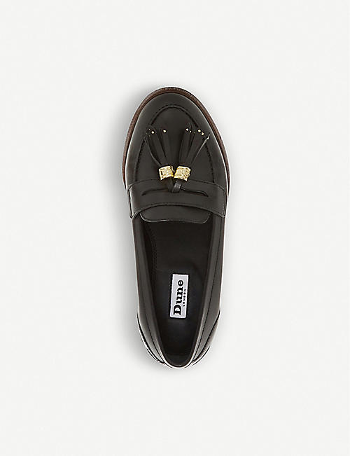 DUNE Glazer leather tassel loafer