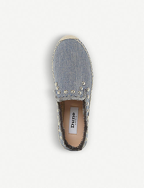 DUNE Georgina studded canvas espadrilles