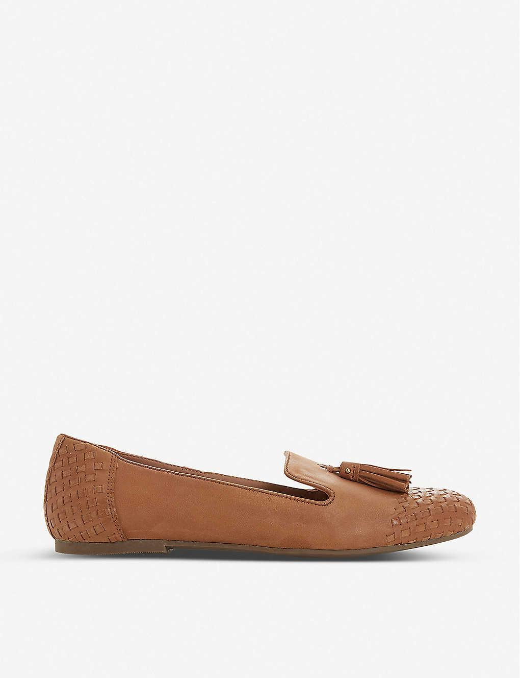 DUNE: Gilson woven leather loafers