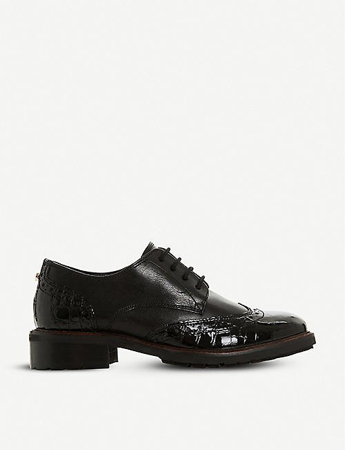 DUNE: Fion leather brogues