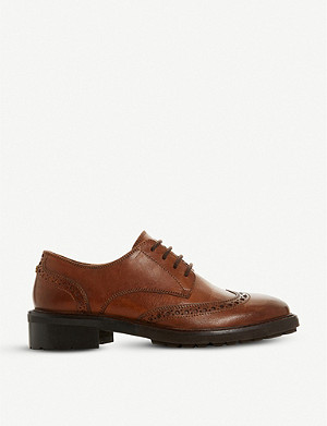 DUNE Fion leather brogues