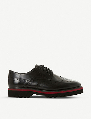 DUNE Frederica contrast-detail leather brogues