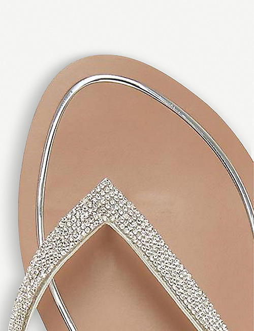 DUNE Lou-Lou diamante-embellished sandals