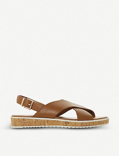 86ba2d106b8d DUNE Lorde cross-strap leather sandals