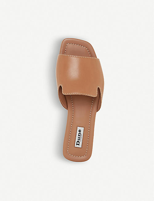 DUNE Liaise leather open-toe sandals