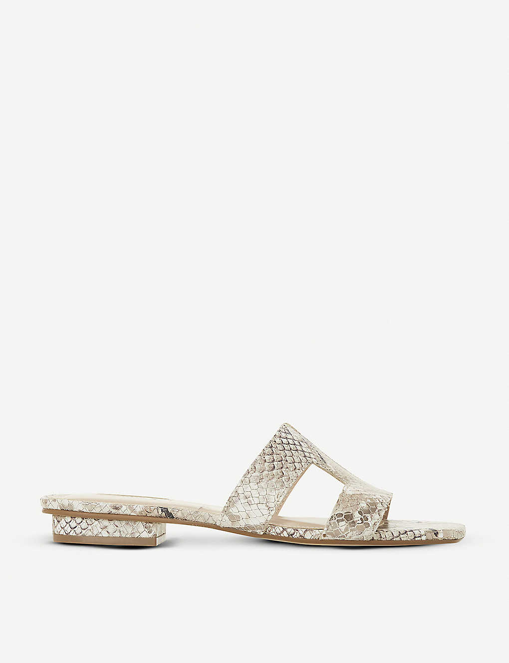 DUNE: Loupe cutout leather sandals