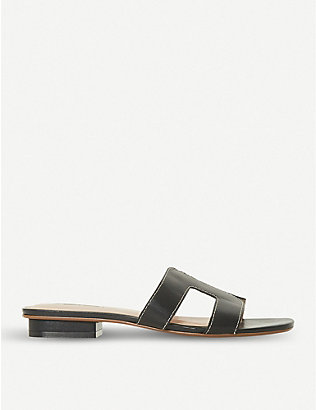 DUNE: Loupe leather sandals