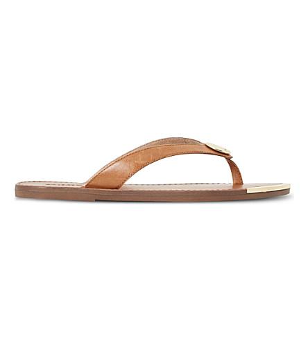 d6d68fd0c203 DUNE Lagos leather sandals (Tan-leather