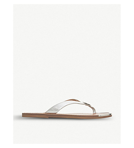 217dab02331 DUNE Lagos metallic-leather sandals (Silver-leather