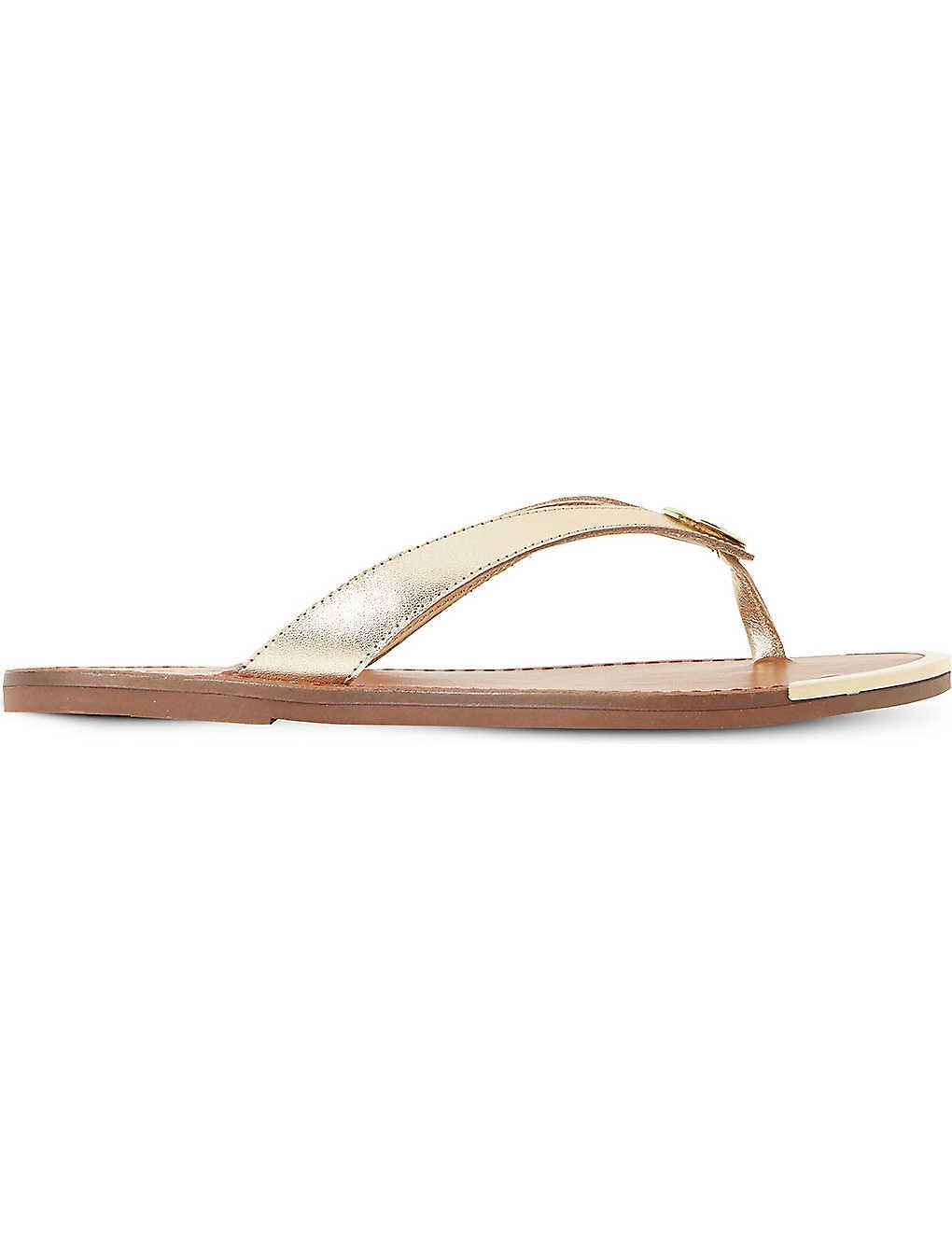 a7775f3e7ede DUNE - Lagos metallic leather sandals