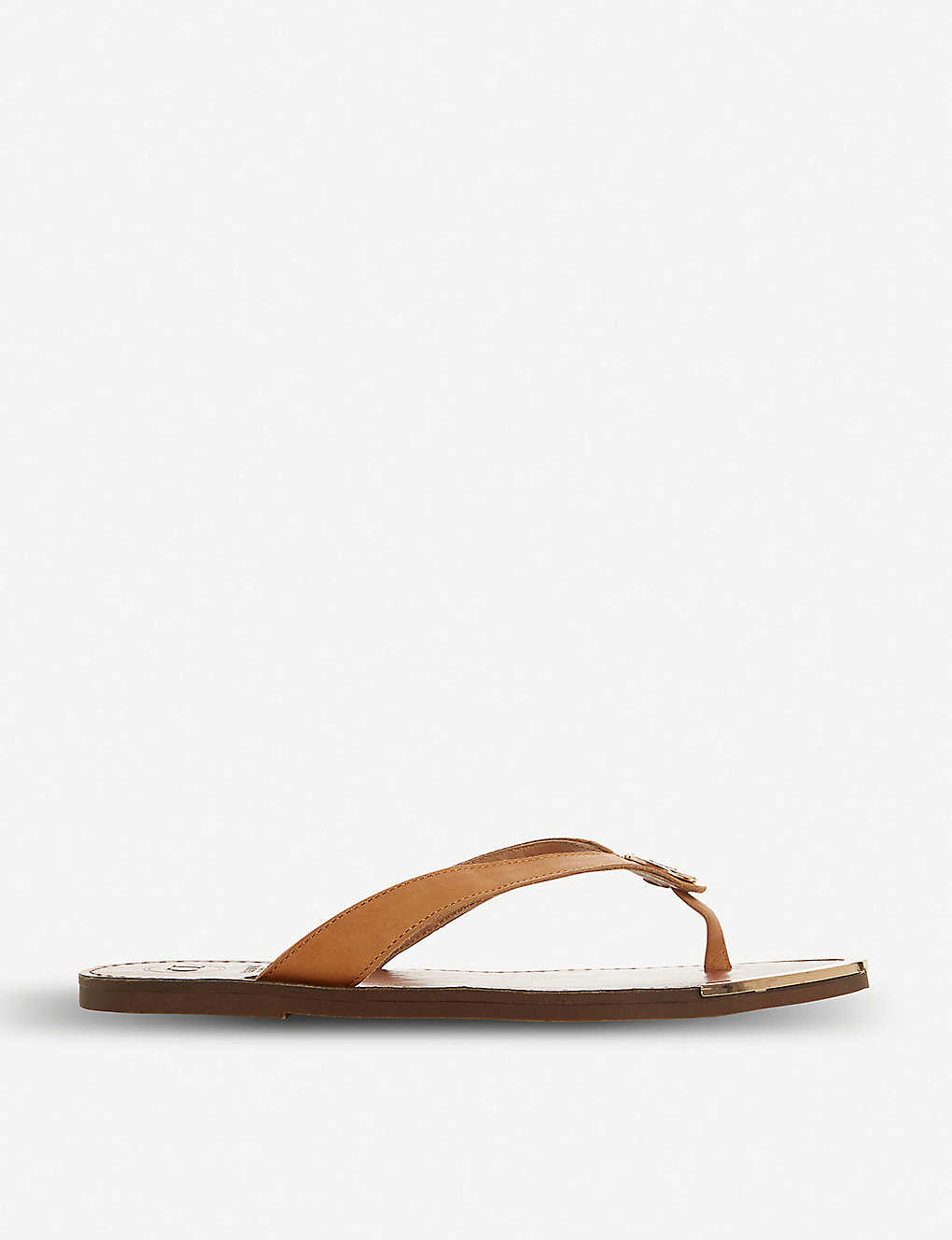 DUNE: Lagoons slip-on leather flip-flops