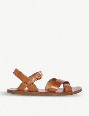 DUNE Lavell cross-strap leather sandals