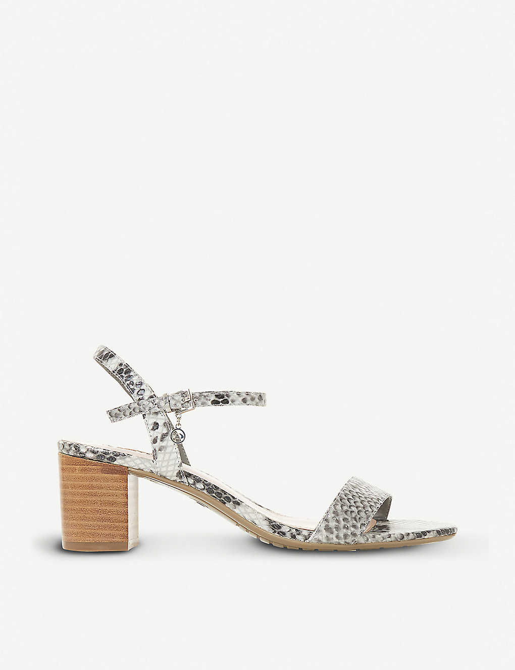 a4681934987 DUNE - Jiggle reptile-embossed leather block-heeled sandals ...