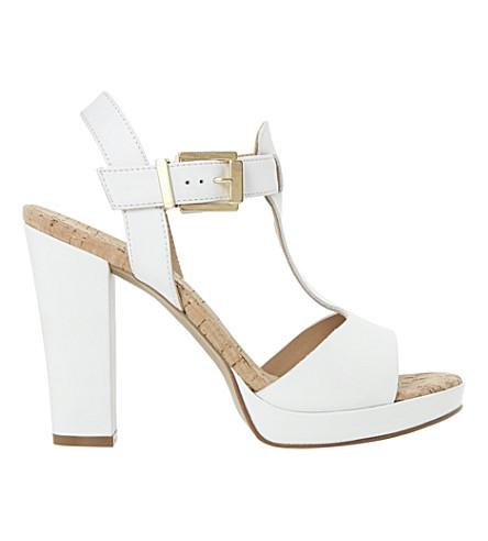 331528265663 DUNE - Jasmin cork-detail leather platform sandals