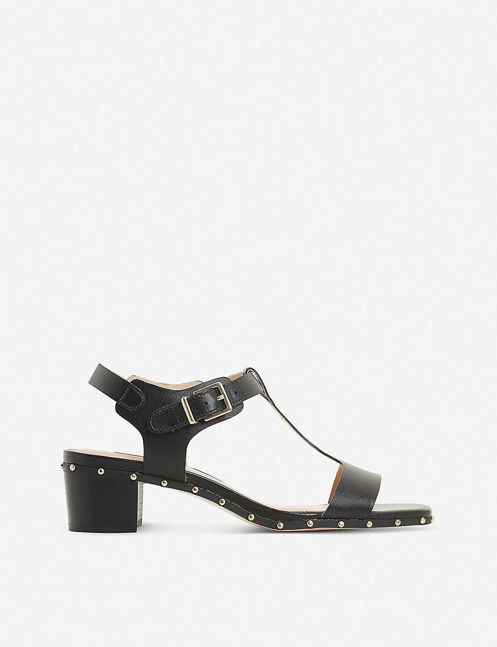 c16df43a0de6 DUNE - Isadora studded T-bar leather sandals