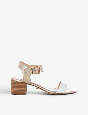 DUNE Izzi two-part nubuck leather sandals