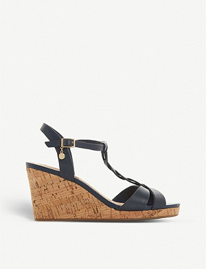 DUNE Koala leather wedge sandals