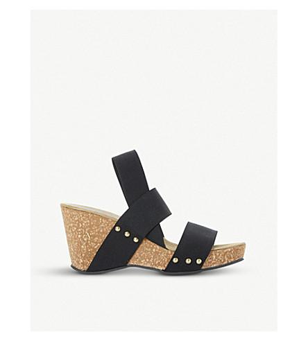 6f77e8297f06 DUNE - Kassii studded cork-wedge sandals