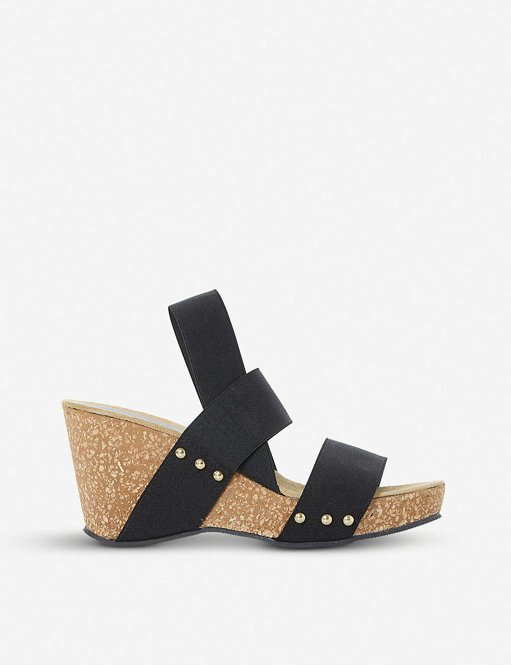 4c2d6de722 DUNE - Kassii studded cork-wedge sandals | Selfridges.com