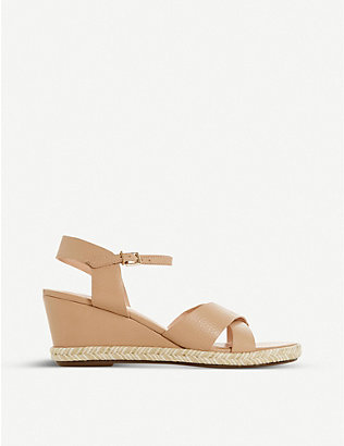 DUNE: Kiwii leather espadrille sandals