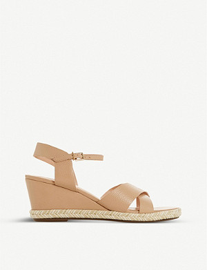 DUNE Kiwii leather espadrille sandals