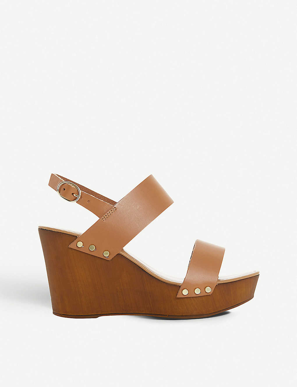 DUNE: Kimmey leather slingback platform wedge sandals