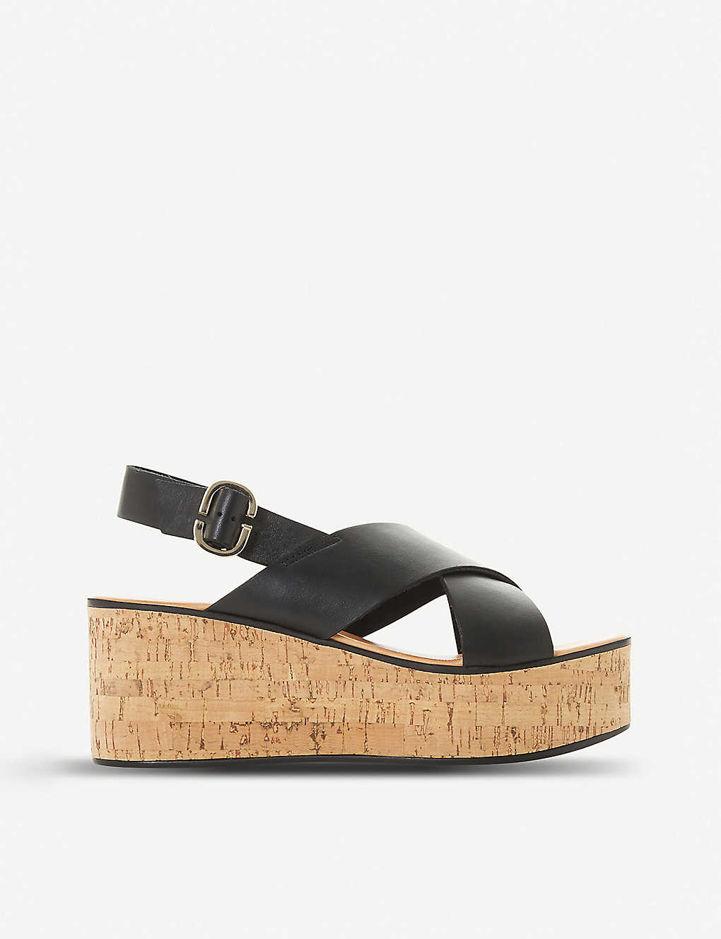 DUNE: Kati Db leather wedge sandals