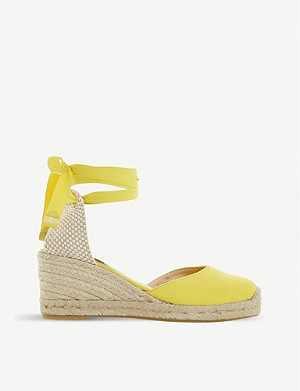 DUNE Kasey espadrille canvas sandals