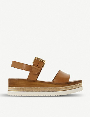 DUNE Kaze leather flatform sandals