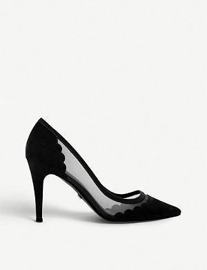 76041f82de2 DUNE - Banksy snake-print pointed-toe stiletto heels | Selfridges.com