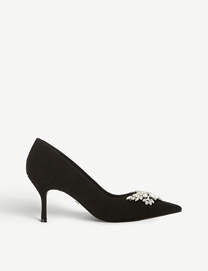 DUNE Bianca 2 suede court shoes