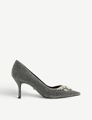 DUNE Bianca 2 jewel-embellished court shoes