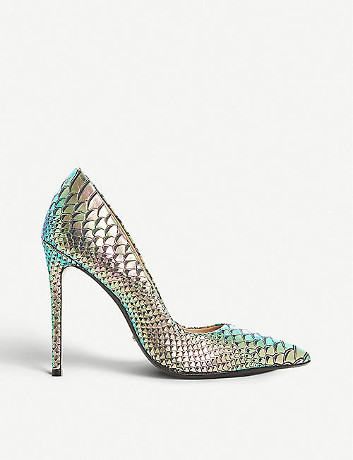 f7e4852ac0ab8 DUNE - Banksy reptile-effect iridescent leather courts | Selfridges.com