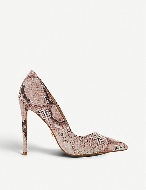 1464d5a1ad4 DUNE Banksy snake-print pointed-toe stiletto heels