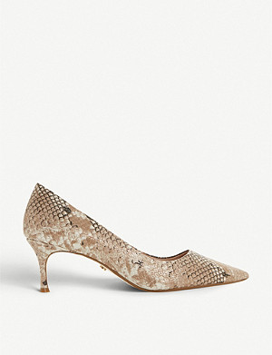 DUNE Astal snake-skin effect faux-leather courts