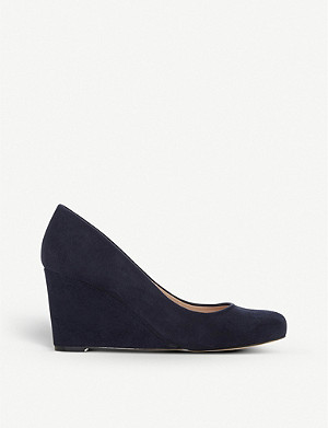 DUNE Anthee suede wedge courts