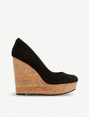 DUNE Alycea suede wedge sandals