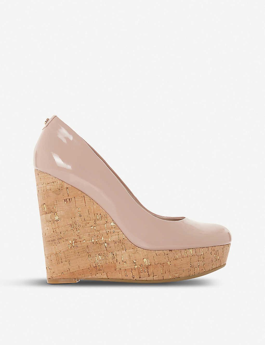 edfe168ce5af9 Alycea - suede wedge sandal - Blushpatent synthetic ...