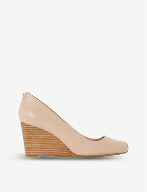 DUNE Allixe leather wedge pumps