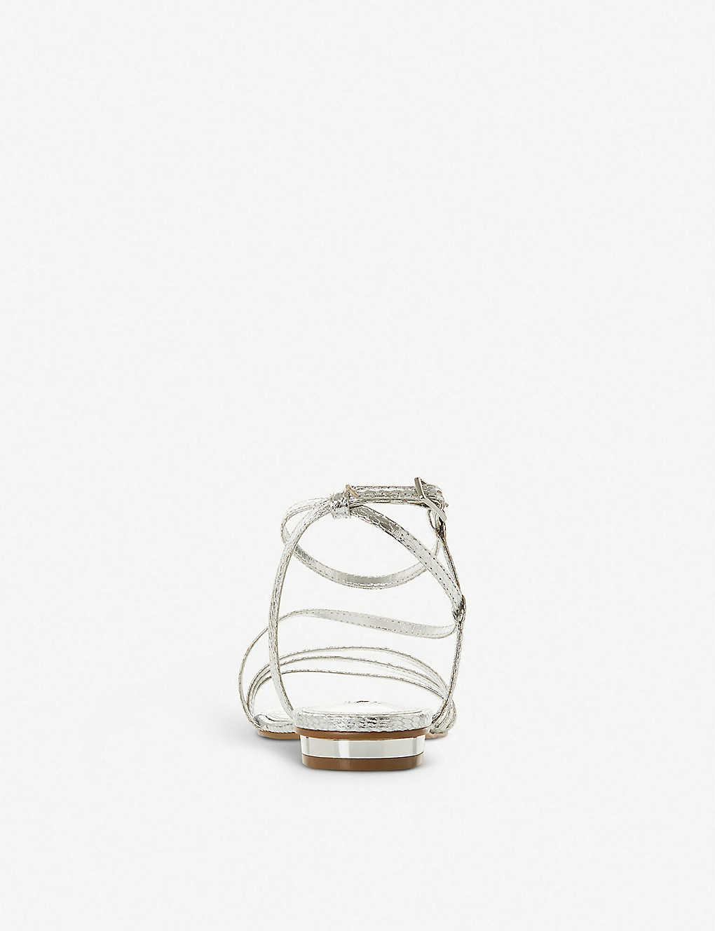 6f5f90bb768 ... Nissey triple-strap metallic sandals - Silversynthetic ...